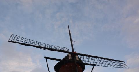 Opnieuw stormschade aan de molen